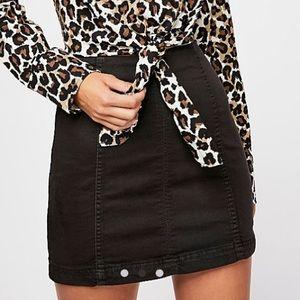 NWT FP modern femme denim mini skirt